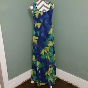 Mossimo Abstract Floral Maxi Dress